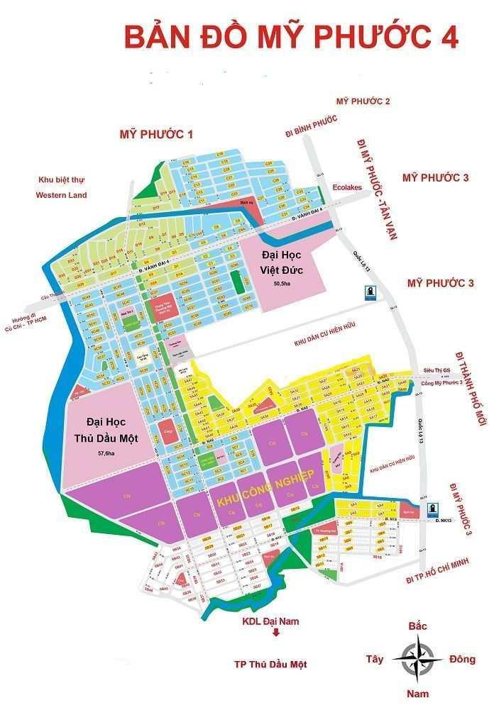 Thông tin chi tiết bản đồ quy hoạch Mỹ Phước 4 mới nhất