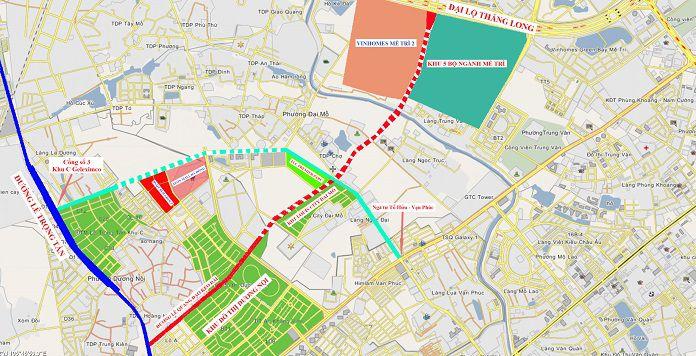 quy hoach duong 70 - Thông tin dự án quy hoạch đường 70 Xuân Phương mới nhất - thong-tin-quy-hoach