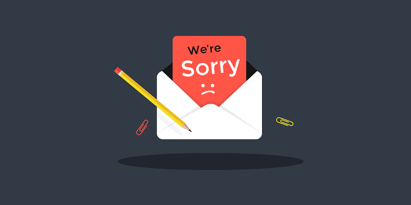 Xin lỗi khách hàng vì sự cố bất tiện